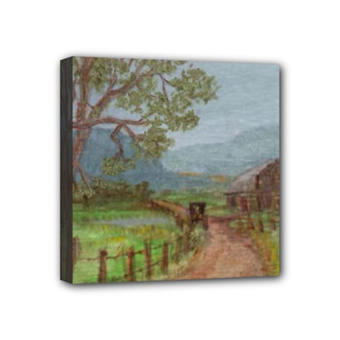 Amish Buggy Going Home  by Ave Hurley of ArtRevu ~ Mini Canvas 4  x 4  (Stretched)
