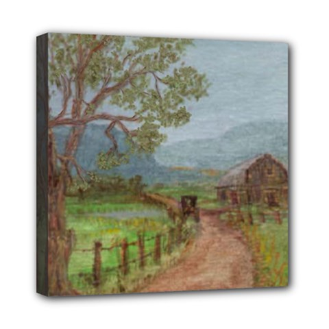 amish Buggy Going Home  By Ave Hurley Of Artrevu   Mini Canvas 8  X 8  (stretched)