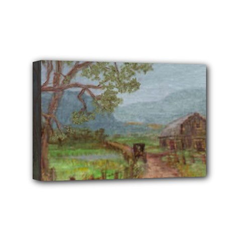 Amish Buggy Going Home  by Ave Hurley of ArtRevu ~ Mini Canvas 6  x 4  (Stretched)