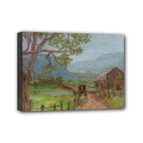 amish Buggy Going Home  By Ave Hurley Of Artrevu   Mini Canvas 7  X 5  (stretched)
