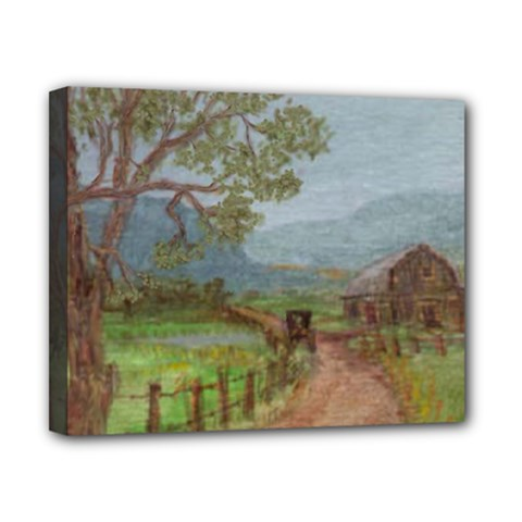 Amish Buggy Going Home  by Ave Hurley of ArtRevu ~ Canvas 10  x 8  (Stretched)