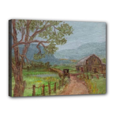 Amish Buggy Going Home  by Ave Hurley of ArtRevu ~ Canvas 16  x 12  (Stretched)