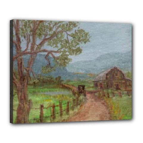 Amish Buggy Going Home  by Ave Hurley of ArtRevu ~ Canvas 20  x 16  (Stretched)