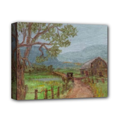 Amish Buggy Going Home  by Ave Hurley of ArtRevu ~ Deluxe Canvas 14  x 11  (Stretched)
