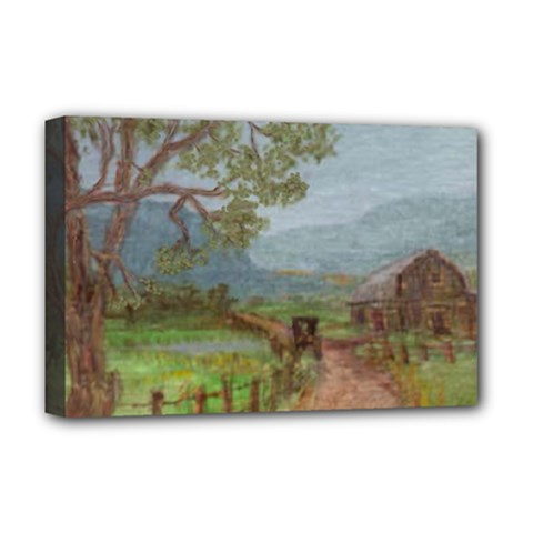 Amish Buggy Going Home  by Ave Hurley of ArtRevu ~ Deluxe Canvas 18  x 12  (Stretched)