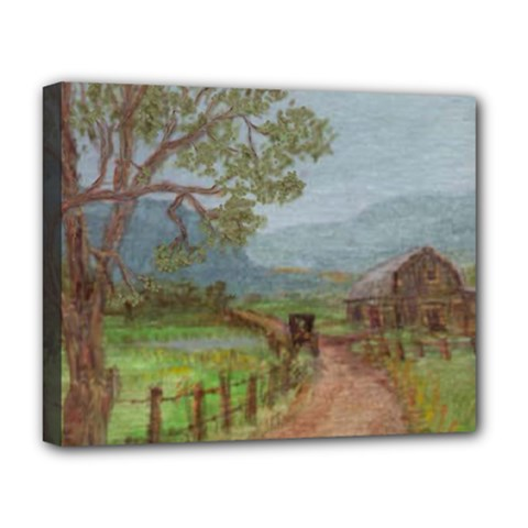 Amish Buggy Going Home  by Ave Hurley of ArtRevu ~ Deluxe Canvas 20  x 16  (Stretched)