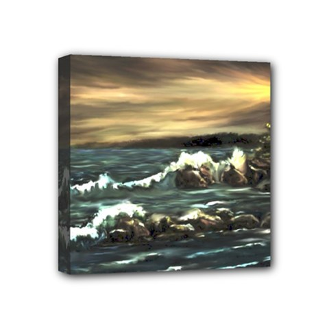Bridget s Lighthouse   by Ave Hurley of ArtRevu ~ Mini Canvas 4  x 4  (Stretched)