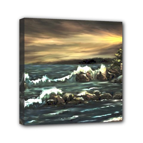 Bridget s Lighthouse   by Ave Hurley of ArtRevu ~ Mini Canvas 6  x 6  (Stretched)