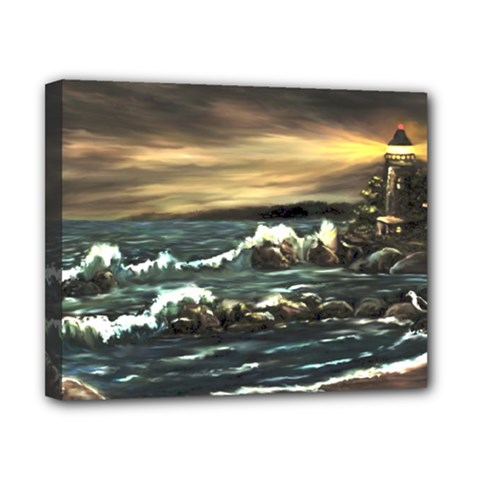 bridget s Lighthouse   By Ave Hurley Of Artrevu   Canvas 10  X 8  (stretched)