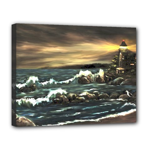 bridget s Lighthouse   By Ave Hurley Of Artrevu   Canvas 14  X 11  (stretched)
