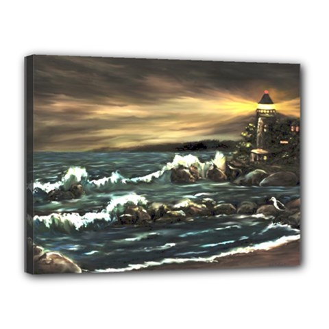 bridget s Lighthouse   By Ave Hurley Of Artrevu   Canvas 16  X 12  (stretched)