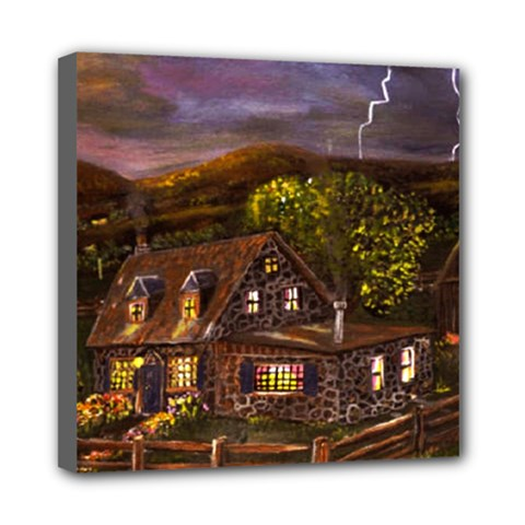 Camp Verde   by Ave Hurley of ArtRevu ~ Mini Canvas 8  x 8  (Stretched)