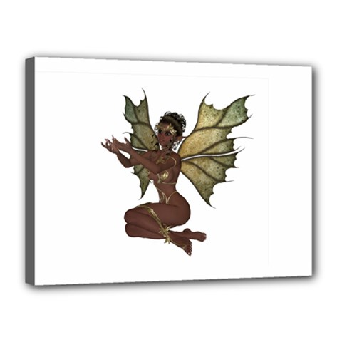 Faerie Nymph Fairy with outreaching hands Canvas 16  x 12  (Framed)