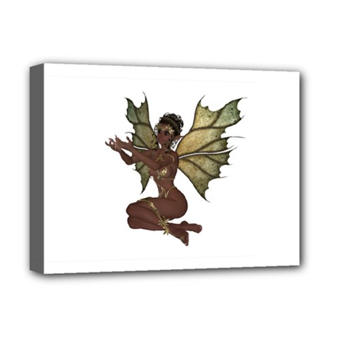 Faerie Nymph Fairy with outreaching hands Deluxe Canvas 16  x 12  (Framed)