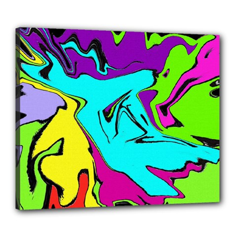 Abstract Canvas 24  x 20  (Framed)