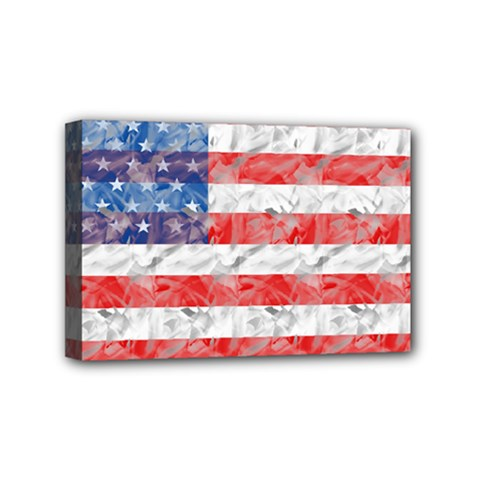 Flag Mini Canvas 6  x 4  (Framed)