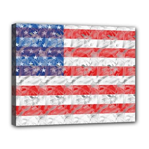 Flag Canvas 14  x 11  (Framed)
