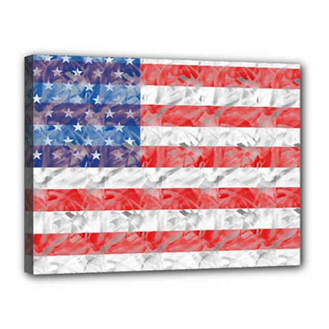 Flag Canvas 16  X 12  (framed)