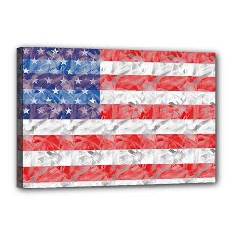 Flag Canvas 18  x 12  (Framed)