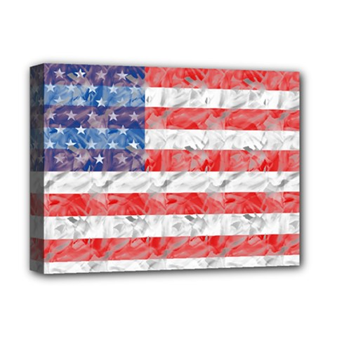 Flag Deluxe Canvas 16  X 12  (framed)