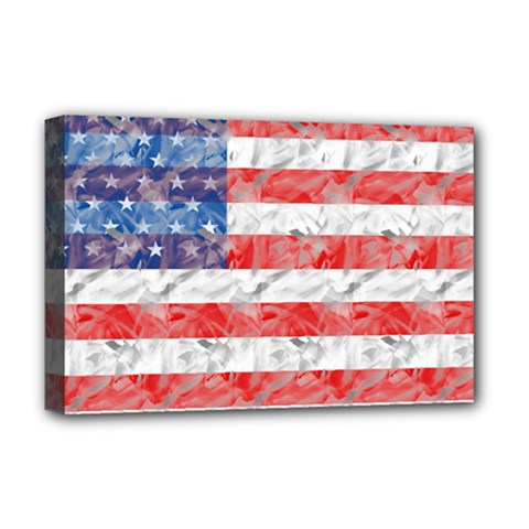 Flag Deluxe Canvas 18  x 12  (Framed)
