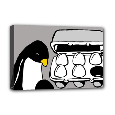 Egg Box Linux Deluxe Canvas 18  X 12  (framed)