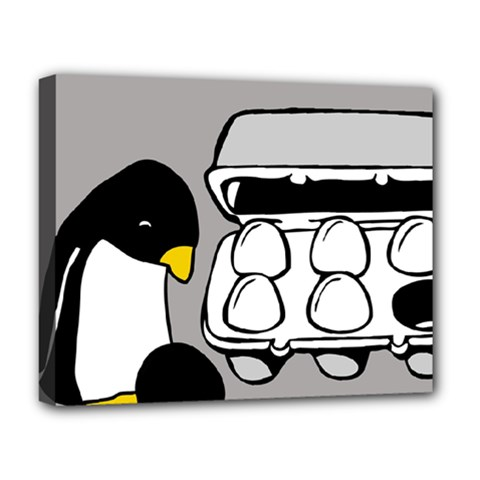 Egg Box Linux Deluxe Canvas 20  X 16  (framed)