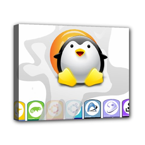 LINUX VERSIONS Canvas 10  x 8  (Framed)
