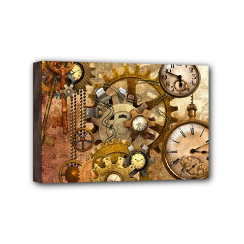Steampunk Mini Canvas 6  x 4  (Framed)