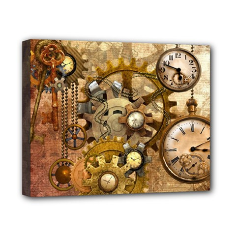Steampunk Canvas 10  x 8  (Framed)