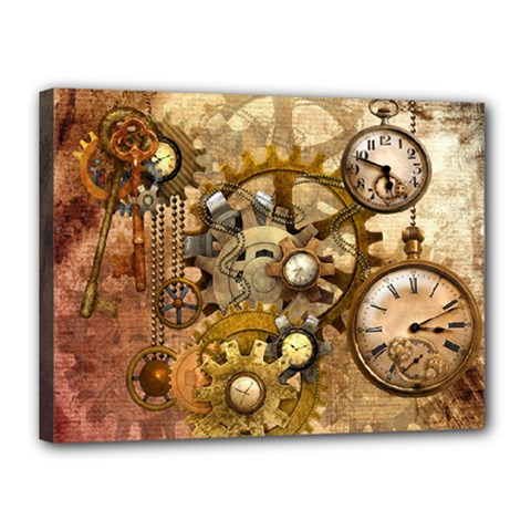 Steampunk Canvas 16  X 12  (framed)