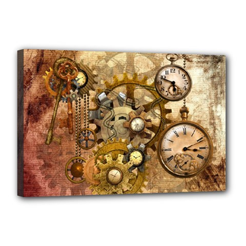Steampunk Canvas 18  x 12  (Framed)