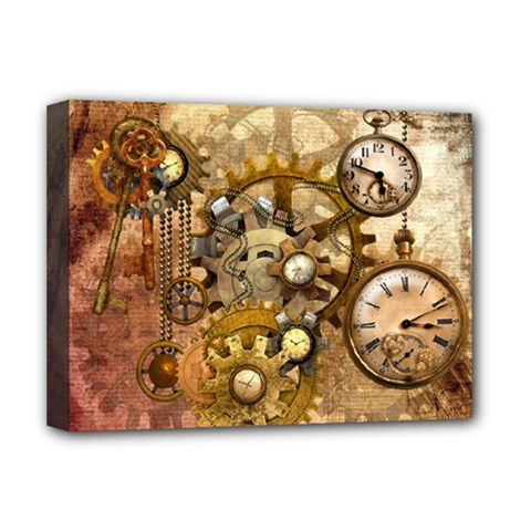 Steampunk Deluxe Canvas 16  x 12  (Framed)
