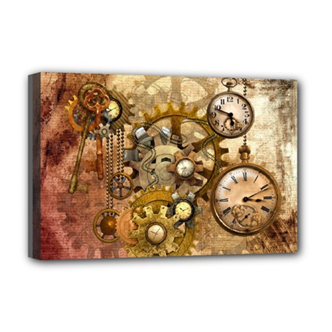 Steampunk Deluxe Canvas 18  x 12  (Framed)