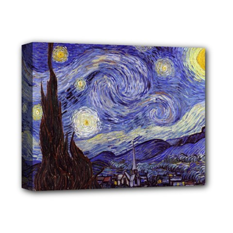 Vincent Van Gogh Starry Night Deluxe Canvas 14  X 11  (framed)