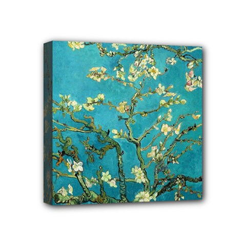 Vincent Van Gogh Blossoming Almond Tree Mini Canvas 4  x 4  (Framed)