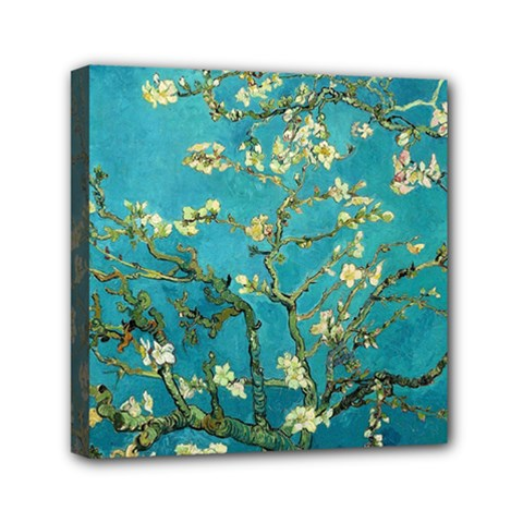 Vincent Van Gogh Blossoming Almond Tree Mini Canvas 6  x 6  (Framed)
