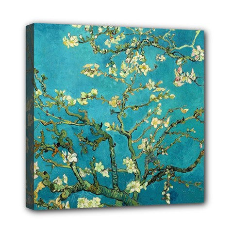 Vincent Van Gogh Blossoming Almond Tree Mini Canvas 8  x 8  (Framed)