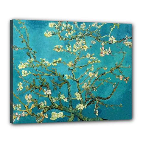 Vincent Van Gogh Blossoming Almond Tree Canvas 20  x 16  (Framed)