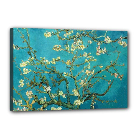 Vincent Van Gogh Blossoming Almond Tree Canvas 18  x 12  (Framed)