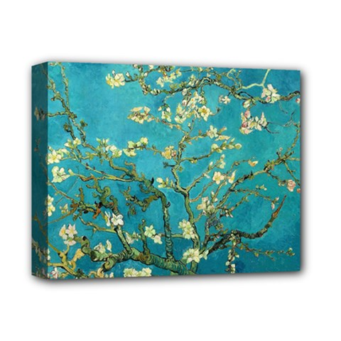 Vincent Van Gogh Blossoming Almond Tree Deluxe Canvas 14  x 11  (Framed)