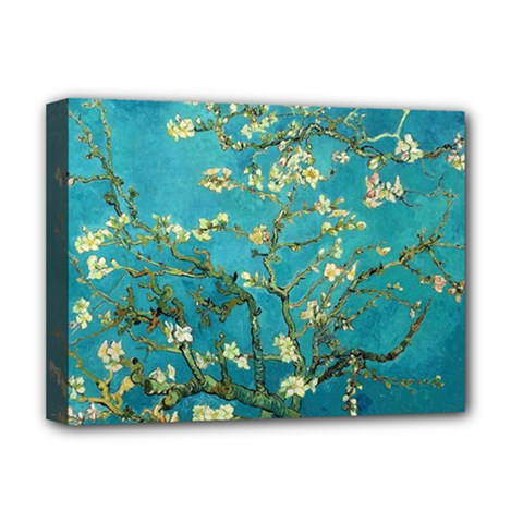 Vincent Van Gogh Blossoming Almond Tree Deluxe Canvas 16  x 12  (Framed)