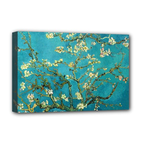Vincent Van Gogh Blossoming Almond Tree Deluxe Canvas 18  X 12  (framed)