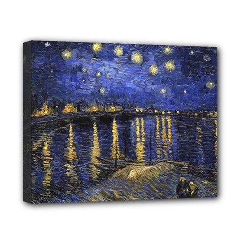 Vincent Van Gogh Starry Night Over The Rhone Canvas 10  x 8  (Framed)