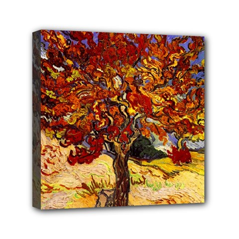 Vincent Van Gogh Mulberry Tree Mini Canvas 6  X 6  (framed)