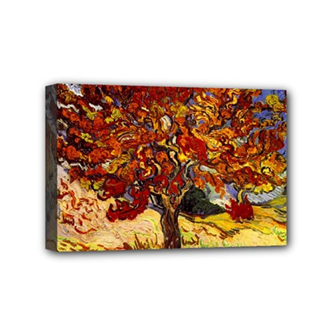 Vincent Van Gogh Mulberry Tree Mini Canvas 6  x 4  (Framed)
