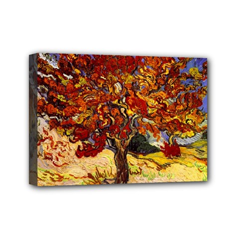 Vincent Van Gogh Mulberry Tree Mini Canvas 7  x 5  (Framed)