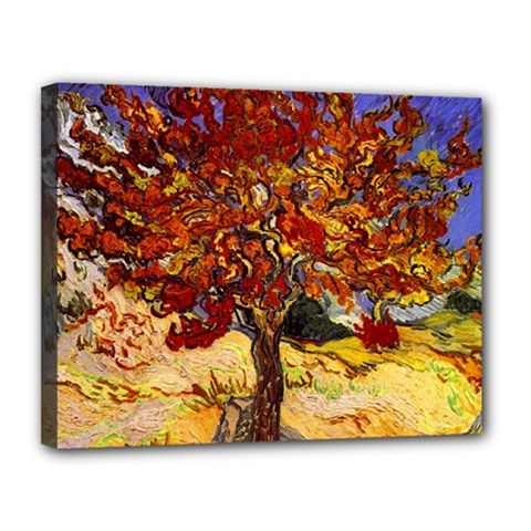 Vincent Van Gogh Mulberry Tree Canvas 14  x 11  (Framed)