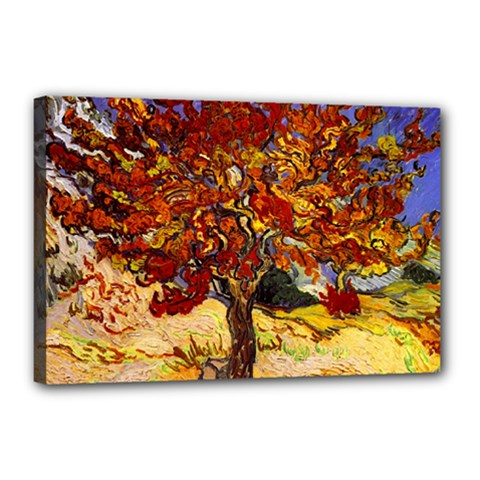 Vincent Van Gogh Mulberry Tree Canvas 18  X 12  (framed)