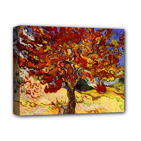 Vincent Van Gogh Mulberry Tree Deluxe Canvas 14  x 11  (Framed)